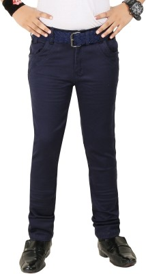 Clench Slim Fit Boy's Blue Trousers