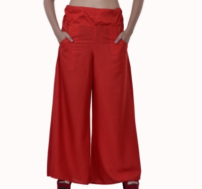 Inblue Fashions Regular Fit Women,s Red Trousers