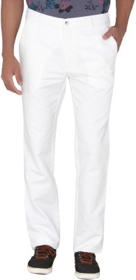 Greenfibre Slim Fit Men's White Trousers