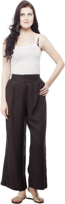 Pistaa Regular Fit Women's Brown Trousers