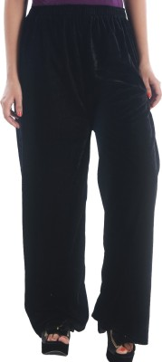 Stay Blessed Regular Fit Women's Black Trousers