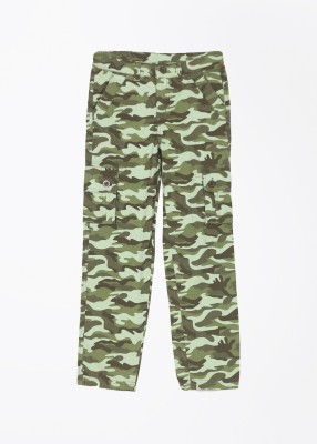 Cherokee Kids Slim Fit Boy,s Green Trousers