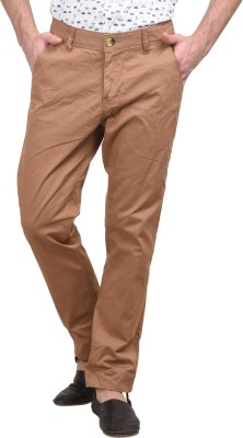 Srota Slim Fit Men's Cream Trousers