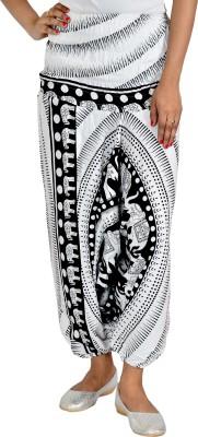 Jhoomar Regular Fit Women's White Trousers
