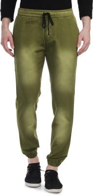 Blimey Slim Fit Men's Green, White Trousers