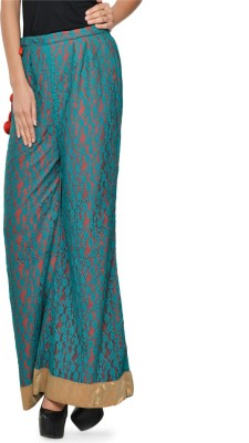 Awesome Regular Fit Women's Green Trousers