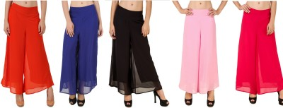 CHIKFAB Regular Fit Women's Blue, Black, Pink, Pink, Orange Trousers