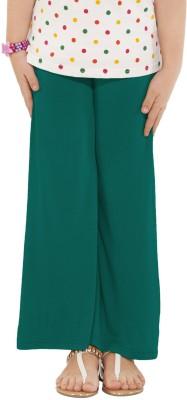 Go Colors Regular Fit Girl's Dark Green Trousers