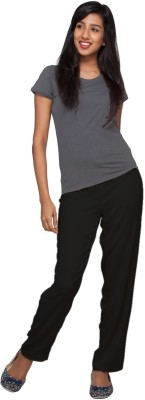 Go Colors Regular Fit Women's Black Trousers