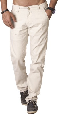 bombay casual jeans Slim Fit Men's Beige Trousers