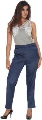 Fast n Fashion Regular Fit Women's Blue Trousers at flipkart