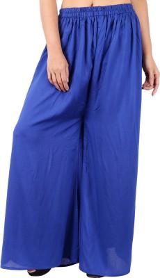 In-Trend Regular Fit Women's Blue Trousers