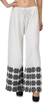 Akshiti Regular Fit Womens White, Black Trousers