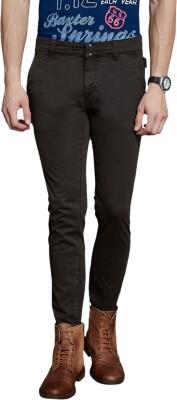 Route 66 Slim Fit Men's Brown Trousers