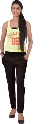 Ace Slim Fit Women's Black Trousers