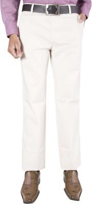 Barrier Reef Slim Fit Men's Cream Trousers