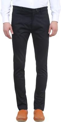 Colors Couture Slim Fit Men's Black Trousers