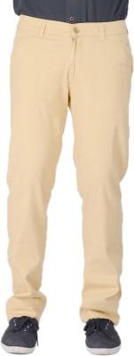 AUSSUM Regular Fit Men's Cream Trousers