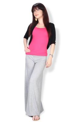 Ten on Ten Regular Fit Women's Grey Trousers