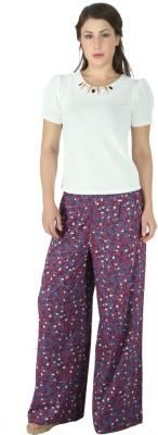 Fashionwardrobe Regular Fit Women's Maroon Trousers