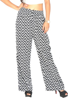 Samayra Regular Fit Women's White, Black Trousers