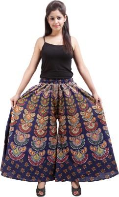 Jaipuri Bandhej Regular Fit Women's Dark Blue Trousers