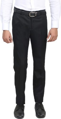 ManQ Slim Fit Men's Black Trousers