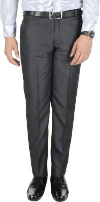 Galloway Regular Fit Men's Black Trousers