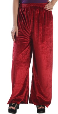 Stay Blessed Regular Fit Women's Maroon Trousers