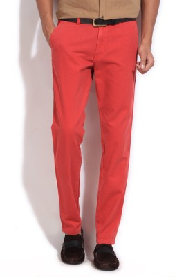 Kenneth Cole Reaction Slim Fit Men's Red Trousers