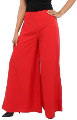 Rigoglioso Regular Fit Women's Red Trousers