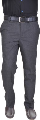AD & AV Regular Fit Men's Black Trousers