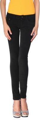 Zedon Slim Fit Women's Black Trousers