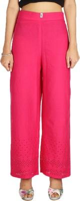 Quetzal Regular Fit Women's Red Trousers