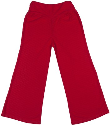 Hunny Bunny Regular Fit Girl's Red Trousers