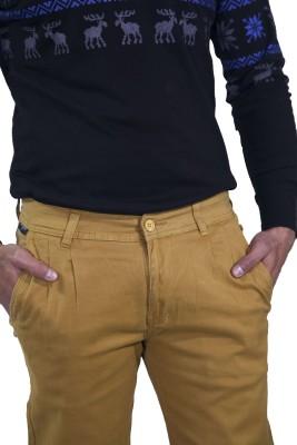 Rollister Slim Fit Men's Brown Trousers
