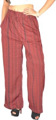 Samayra Regular Fit Women's Red, Black Trousers