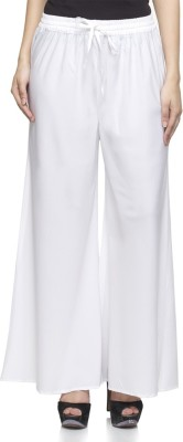 Laabha Regular Fit Women's White Trousers