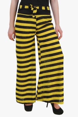 Modattire Regular Fit Women's Yellow, Black Trousers