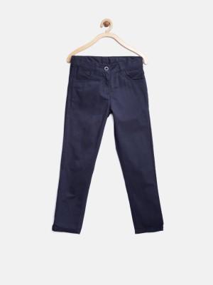 Yk Regular Fit Girl's Dark Blue Trousers