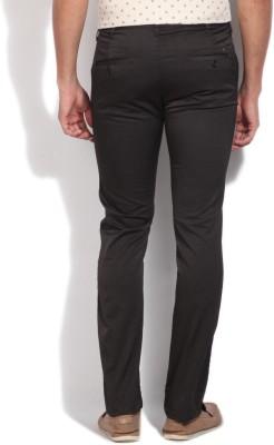 Integriti Slim Fit Men's Brown Trousers