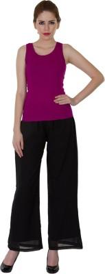 Zoae Regular Fit Women's Black Trousers