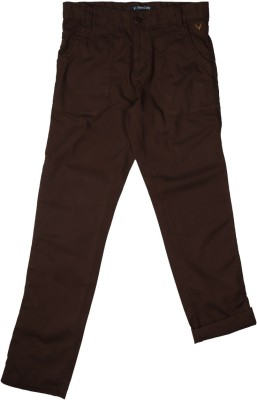 Allen Solly Regular Fit Boy's Brown Trousers