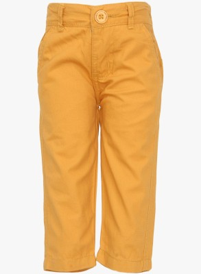 Baby League Regular Fit Baby Boy's Yellow Trousers