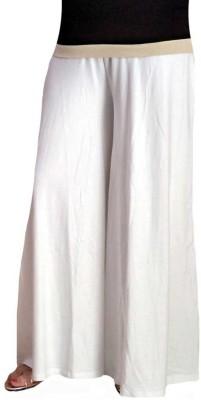 BikeNwear Regular Fit Women's White Trousers