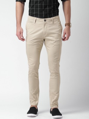 Mast & Harbour Regular Fit Men's Beige Trousers