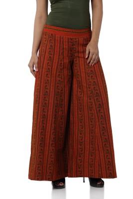 Desi Weaves Regular Fit Women's Brown Trousers