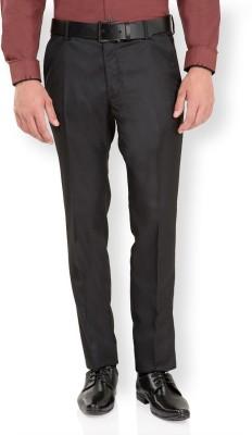 Black Coffee Slim Fit Men's Black Trousers
