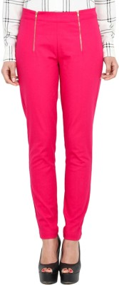 Pera Doce Regular Fit Women,s Pink Trousers