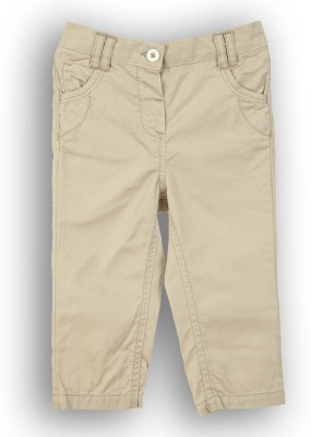 Lilliput Regular Fit Baby Girls Beige Trousers